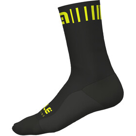 Alé Cycling Strada Socks black-yellow fluo